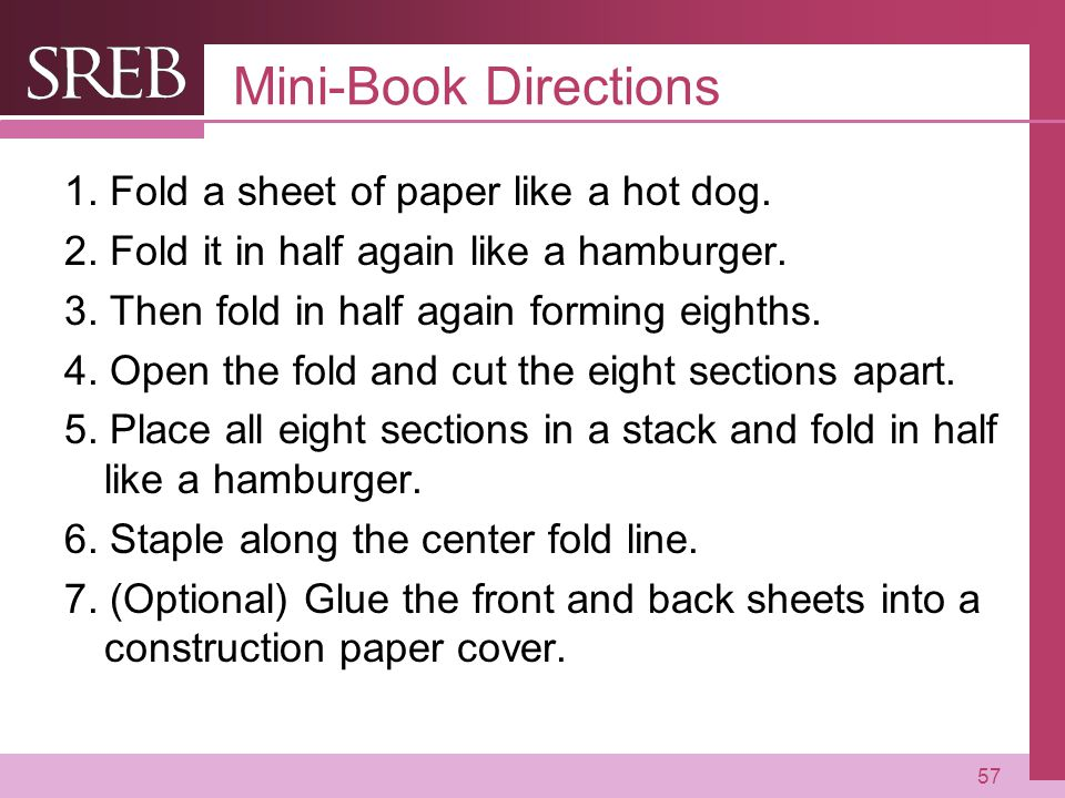 Mini-Book Directions