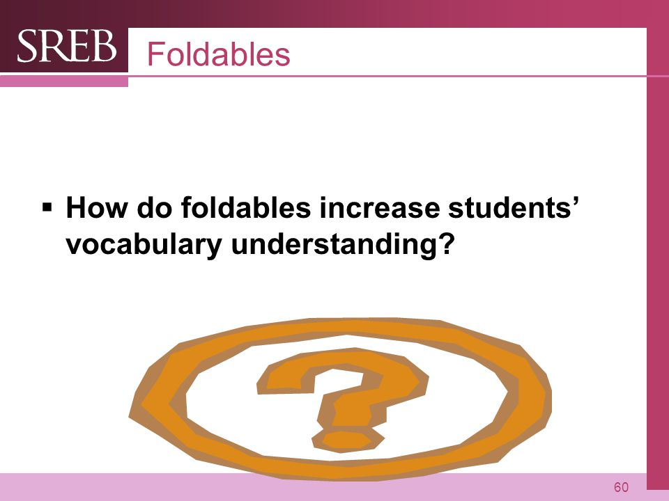 Foldables How do foldables increase students' vocabulary understanding