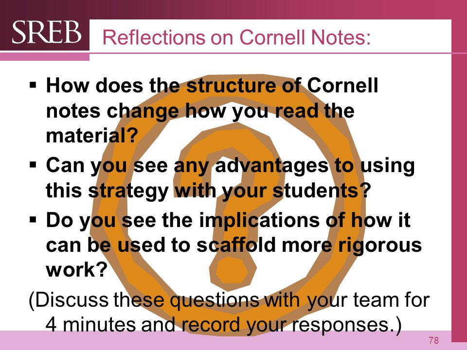 Reflections on Cornell Notes: