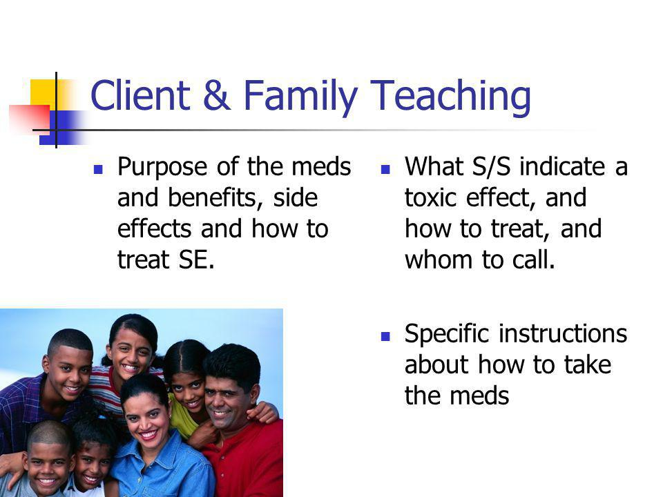 Client & Family Teaching