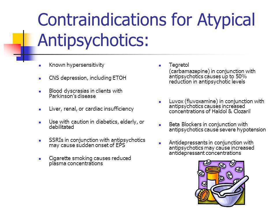 Contraindications for Atypical Antipsychotics: