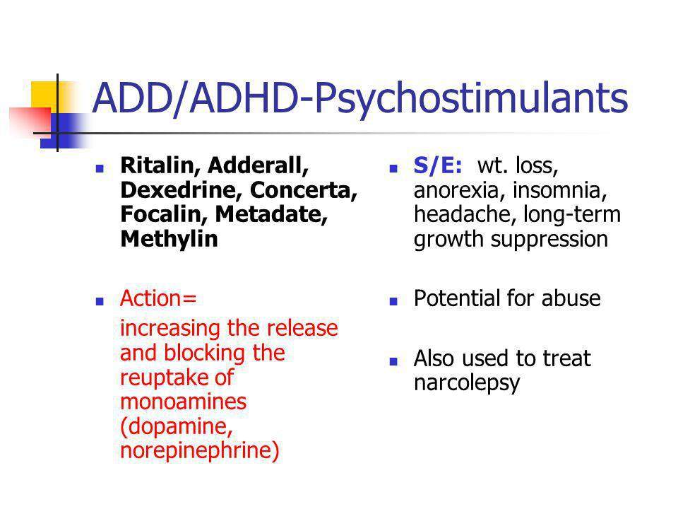ADD/ADHD-Psychostimulants