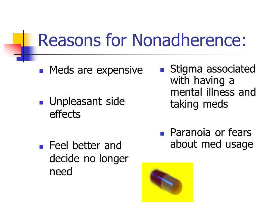 Reasons for Nonadherence: