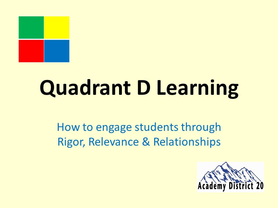 How to engage students through Rigor, Relevance & Relationships
