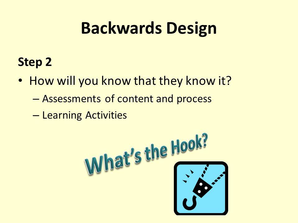What's the Hook Backwards Design Step 2