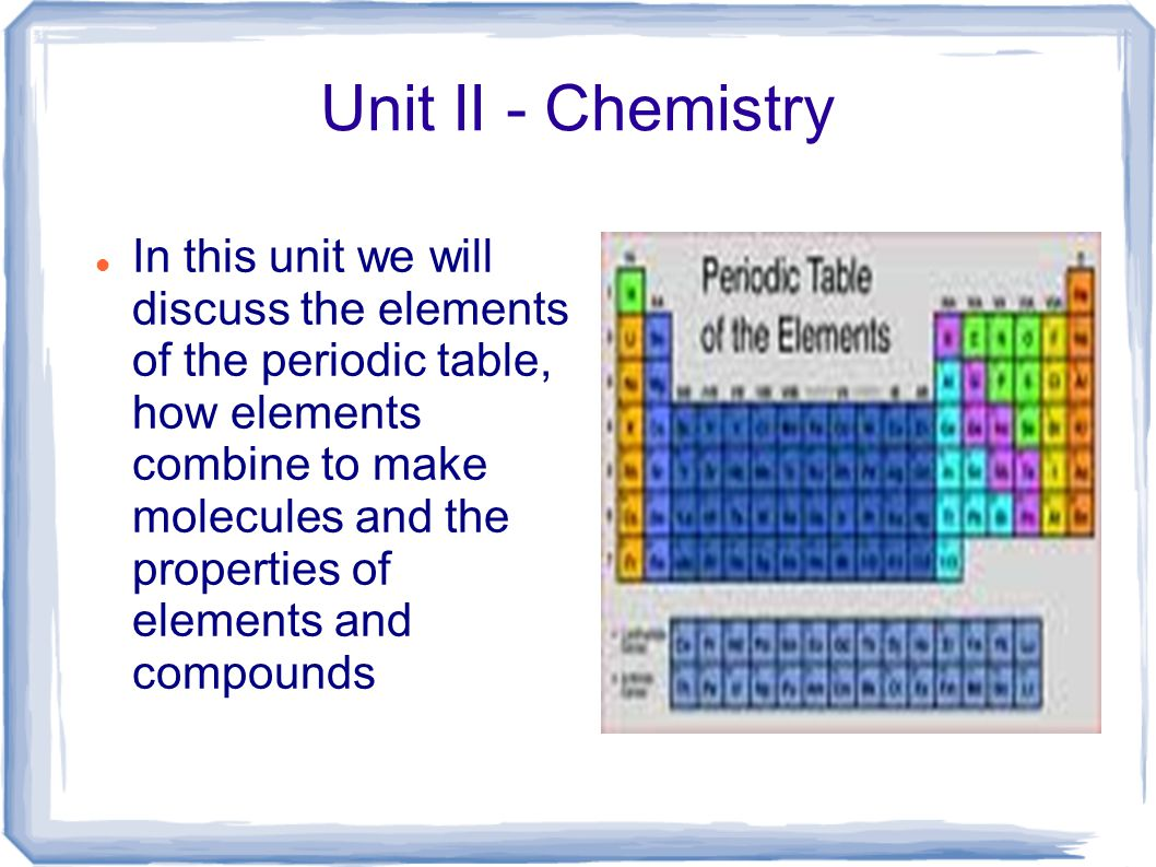 Unit ii chemistry in this unit we will discuss the elements of 1 unit gamestrikefo Choice Image