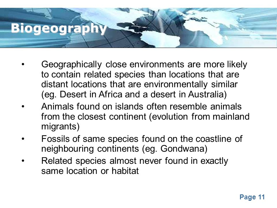 Biogeography