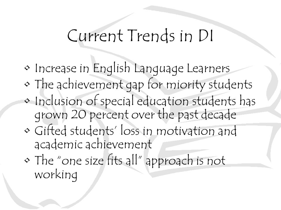 Current Trends in DI Increase in English Language Learners