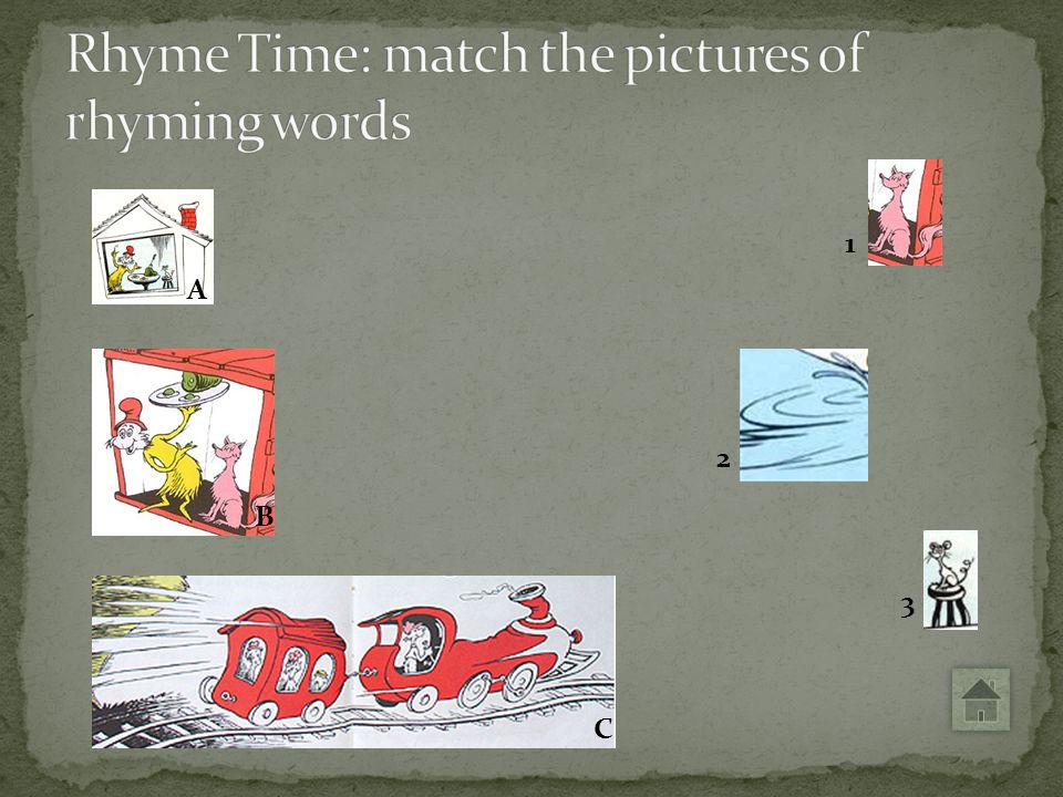 Rhyme Time: match the pictures of rhyming words