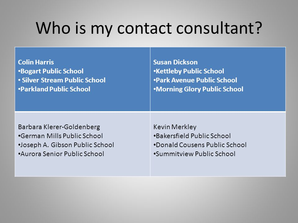 Who is my contact consultant