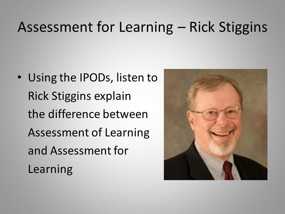 Assessment for Learning – Rick Stiggins