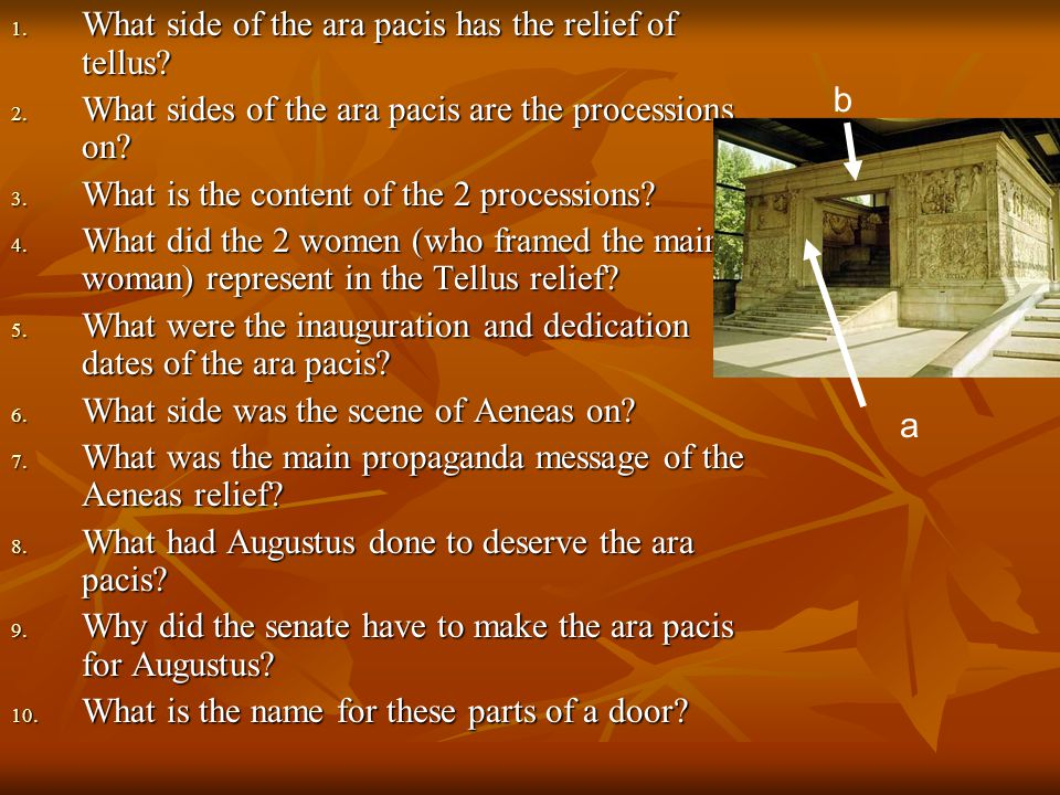 What side of the ara pacis has the relief of tellus