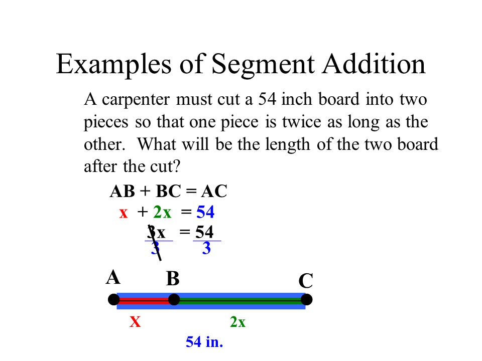 Examples of Segment Addition