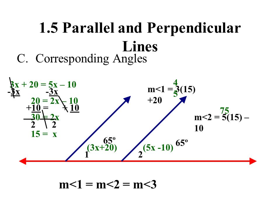 1.5 Parallel and Perpendicular Lines