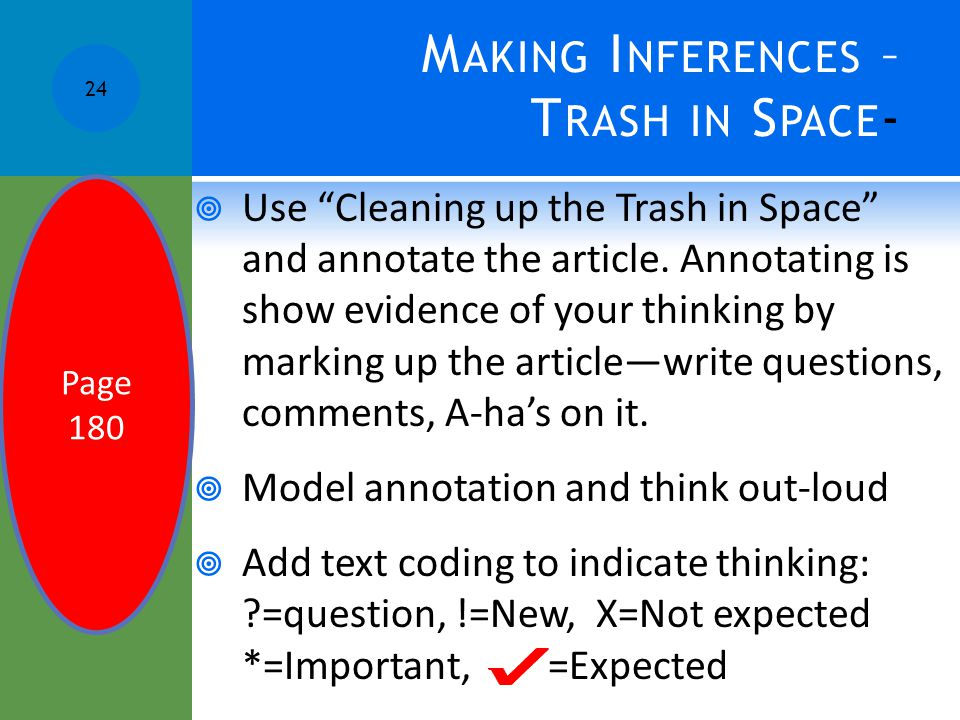 Making Inferences – Trash in Space-