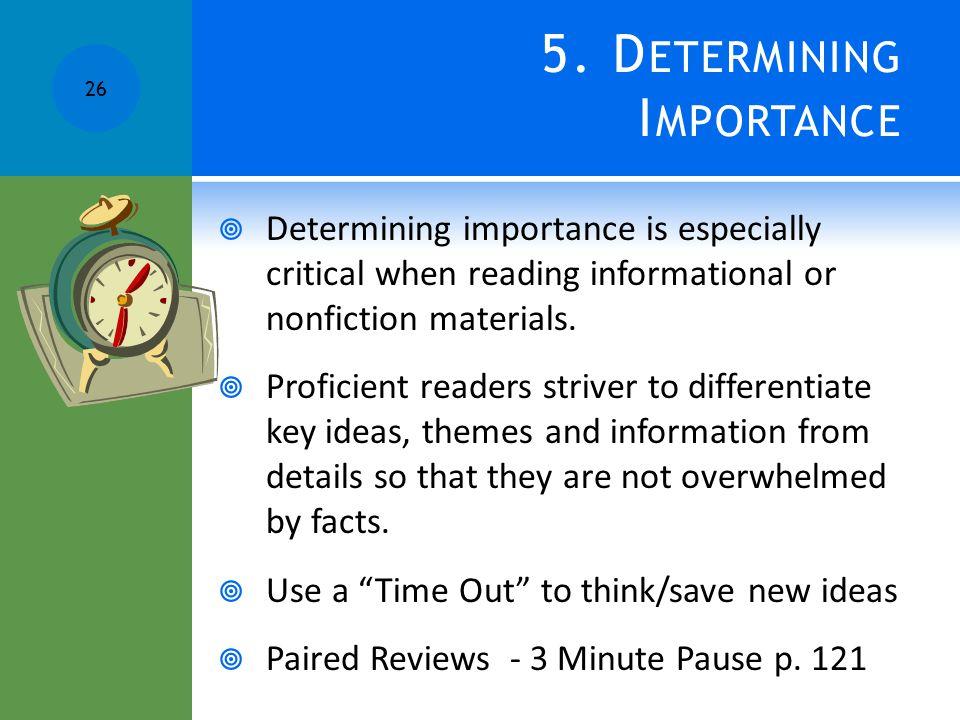 5. Determining Importance