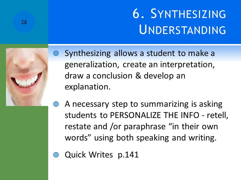 6. Synthesizing Understanding