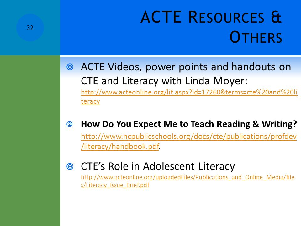 ACTE Resources & Others