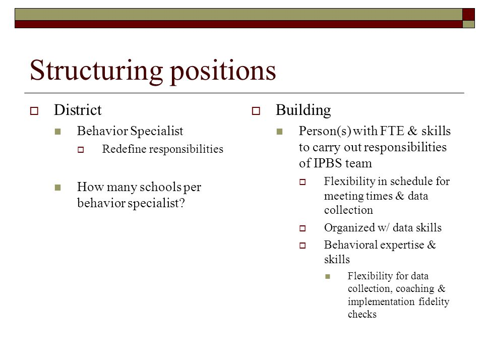 Structuring positions