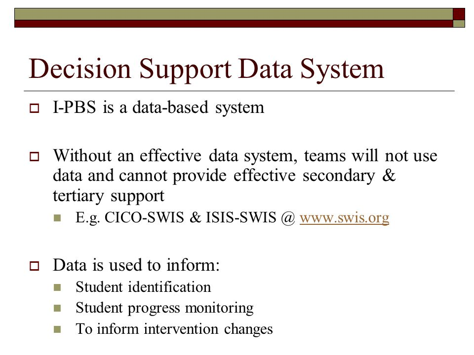 Decision Support Data System