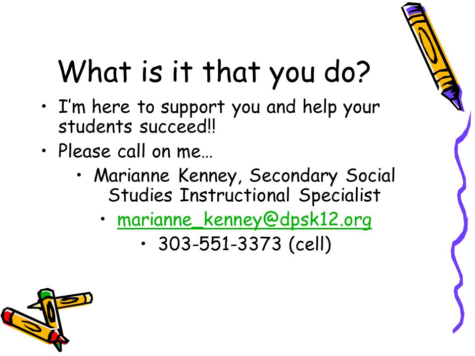 Marianne Kenney, Secondary Social Studies Instructional Specialist