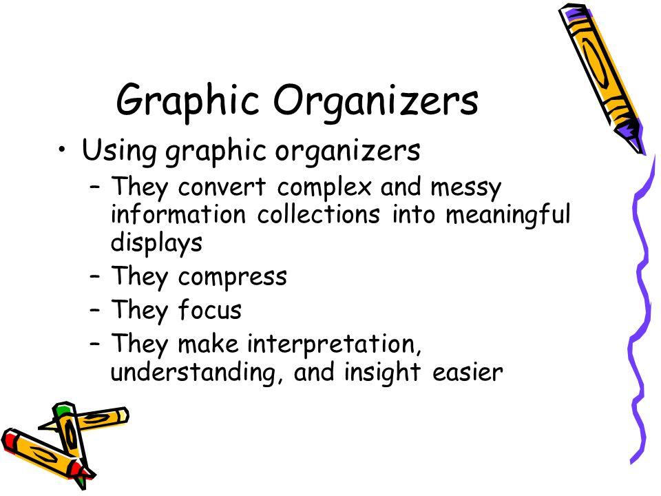 Graphic Organizers Using graphic organizers