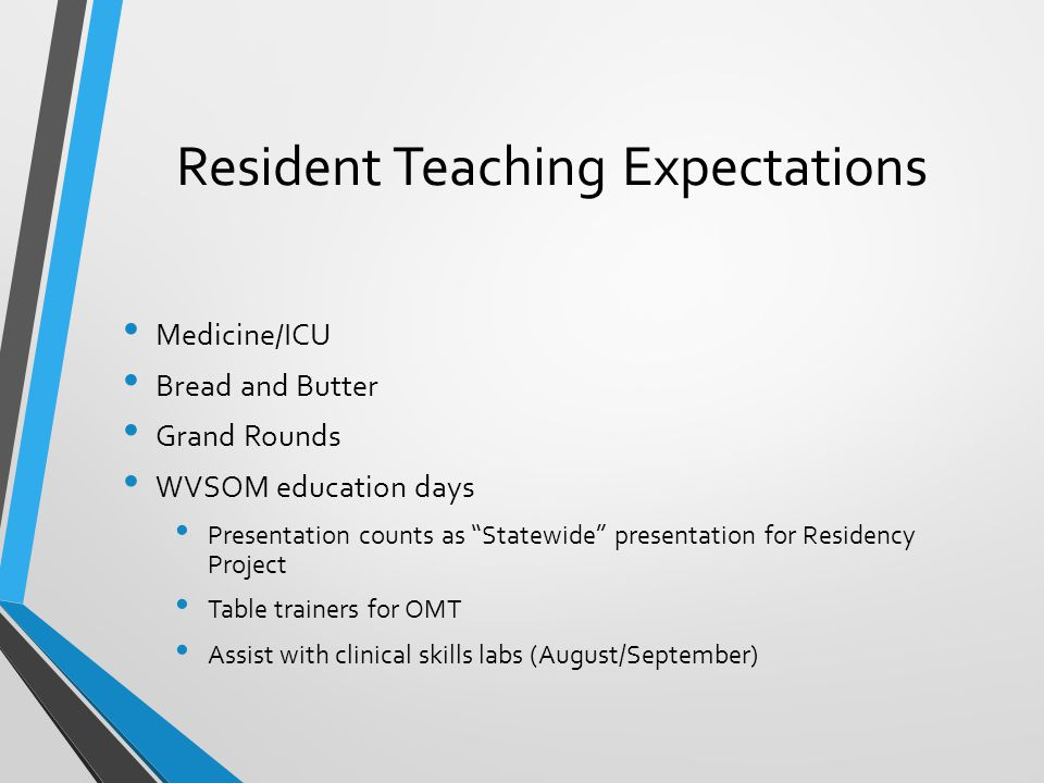 Resident Teaching Expectations