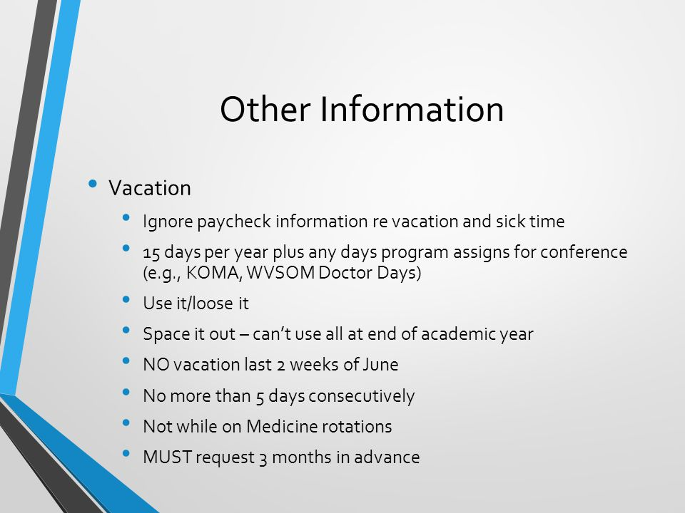 Other Information Vacation