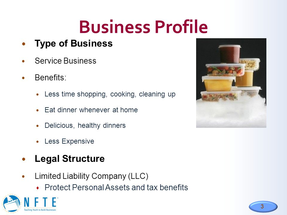 Business Profile Type of Business Legal Structure Service Business