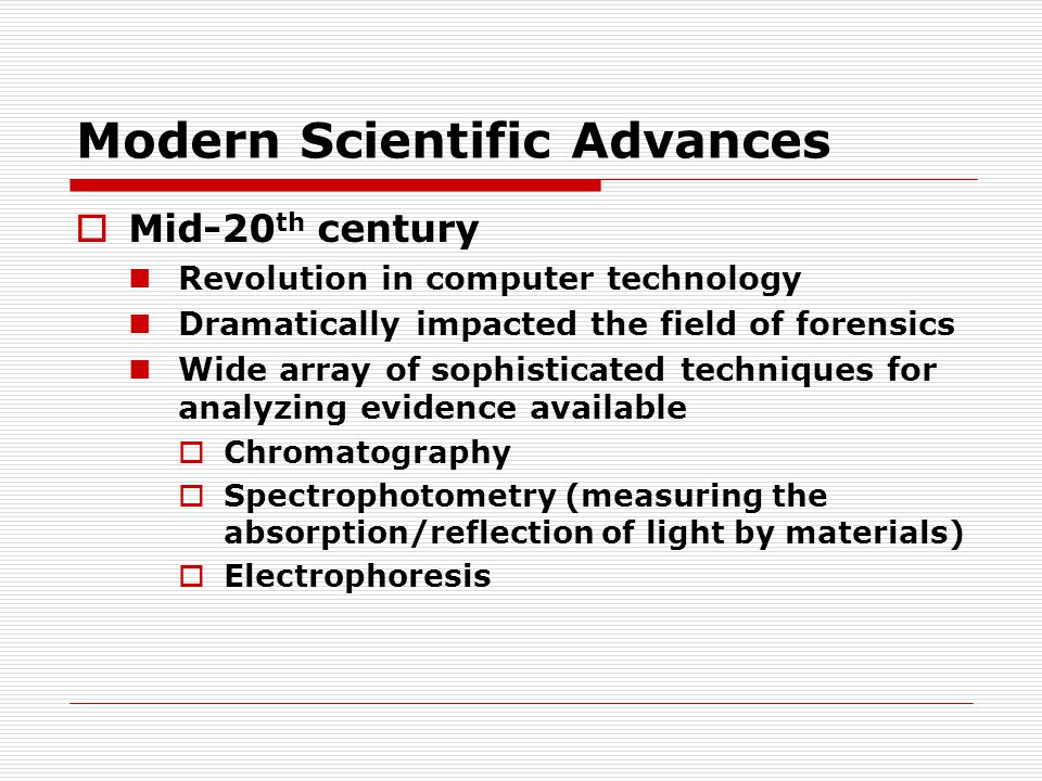Modern Scientific Advances