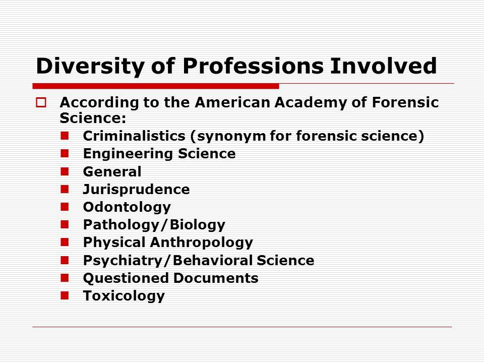 Diversity of Professions Involved