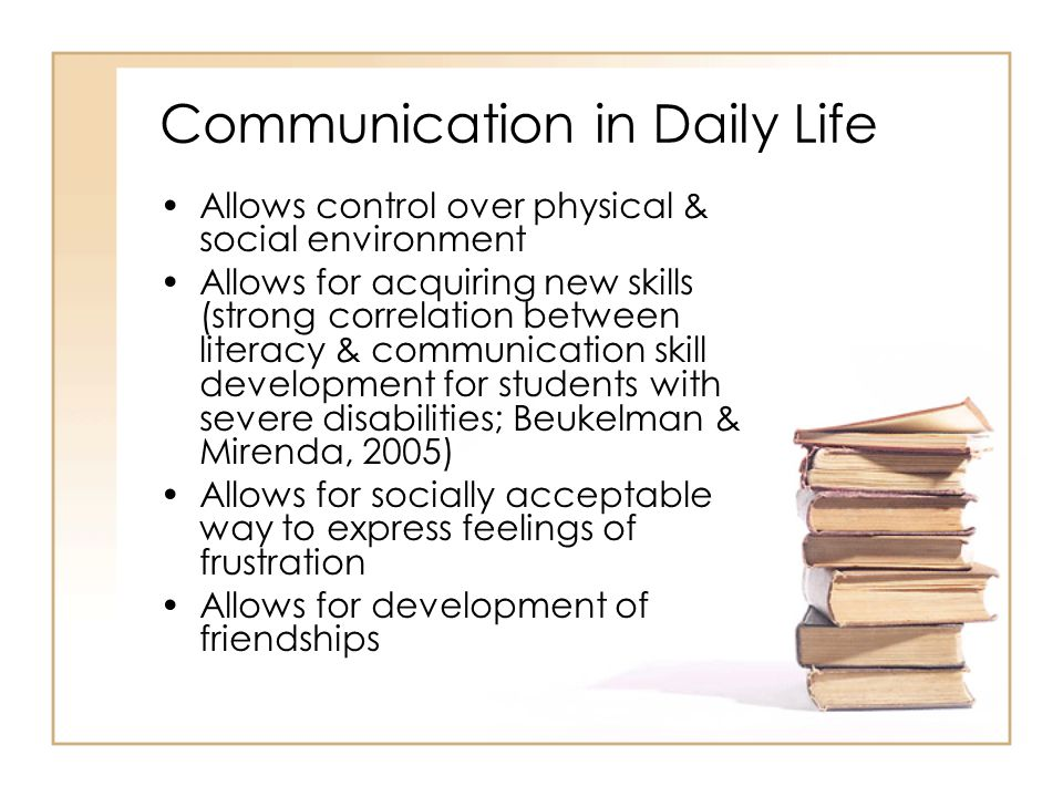 Communication in Daily Life