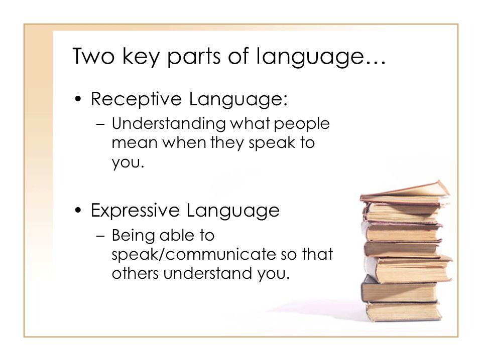 Two key parts of language…