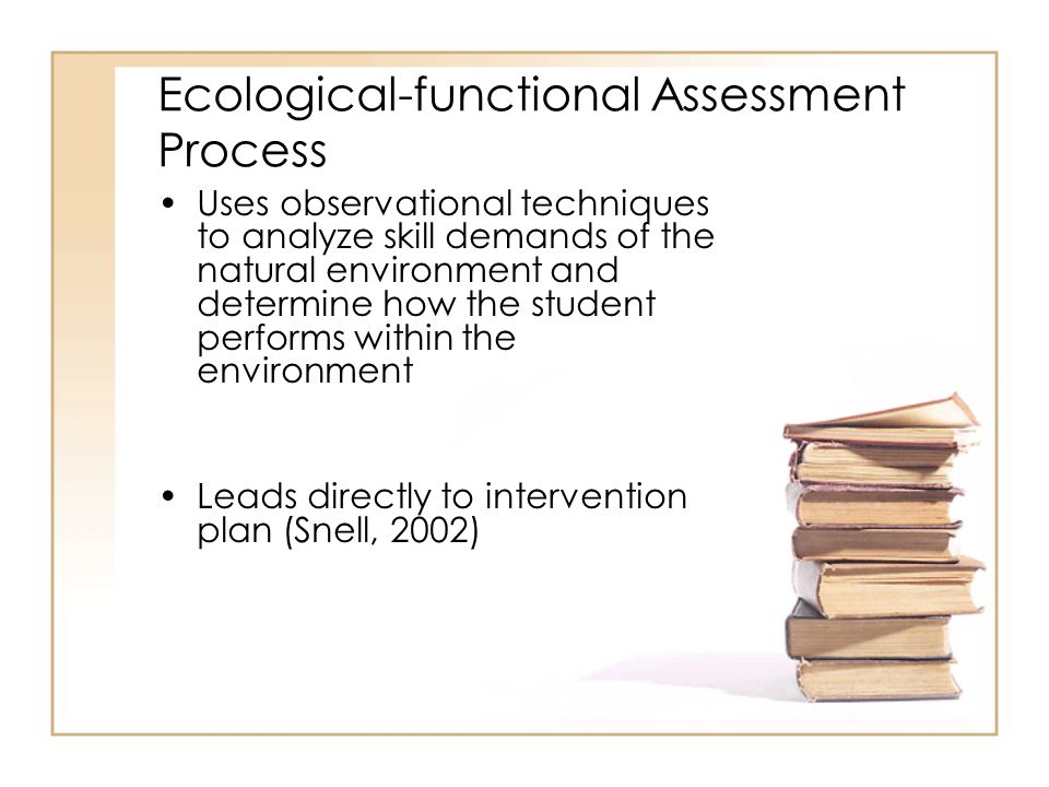 Ecological-functional Assessment Process