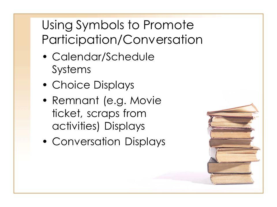 Using Symbols to Promote Participation/Conversation