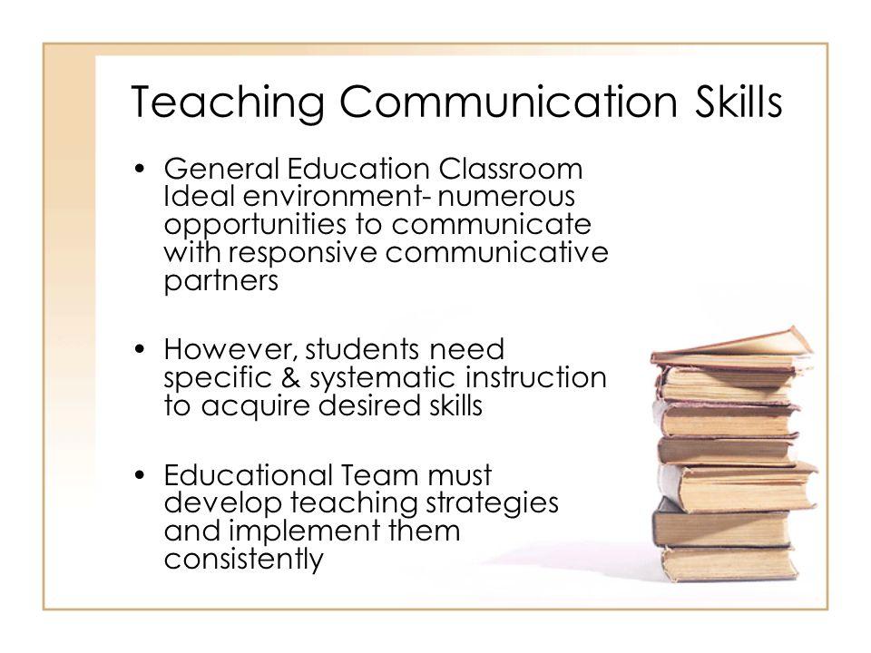 Teaching Communication Skills