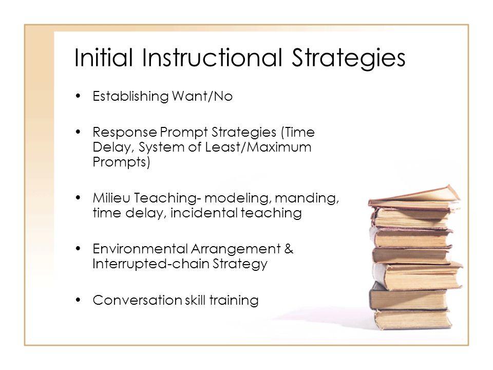 Initial Instructional Strategies