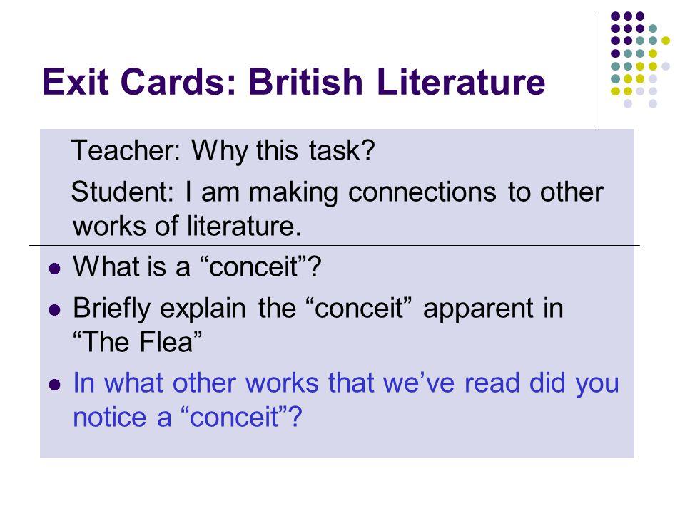 Exit Cards: British Literature