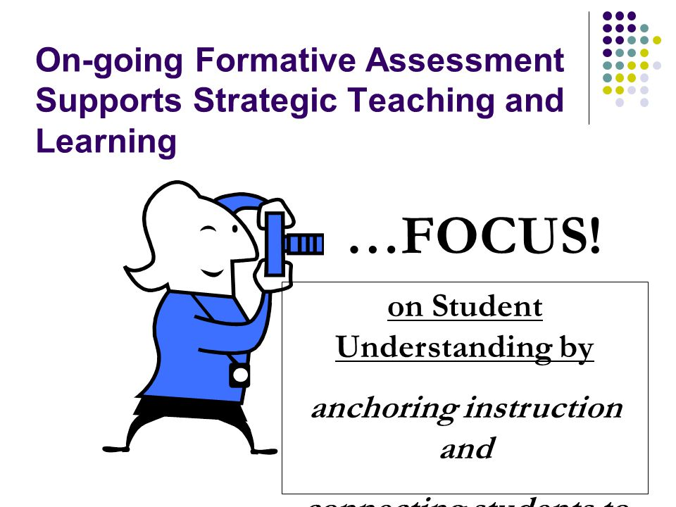 On-going Formative Assessment Supports Strategic Teaching and Learning