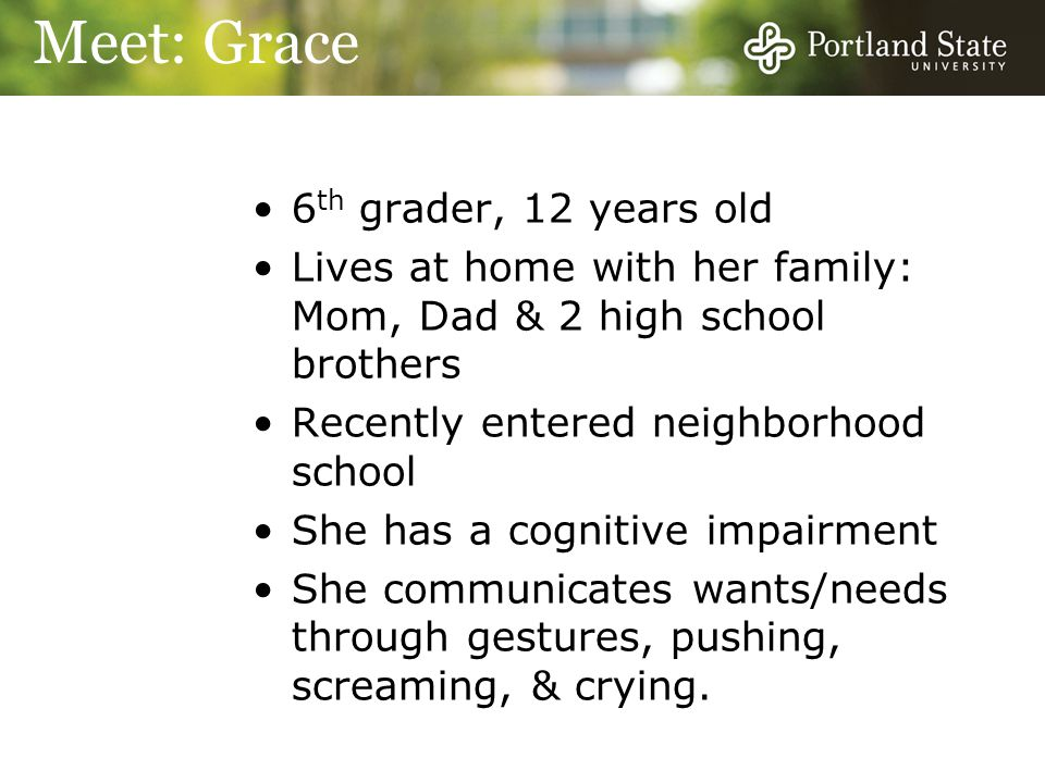 Meet: Grace 6th grader, 12 years old