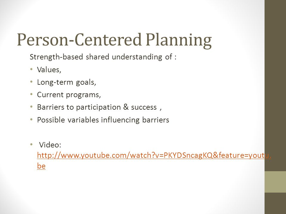 Person-Centered Planning