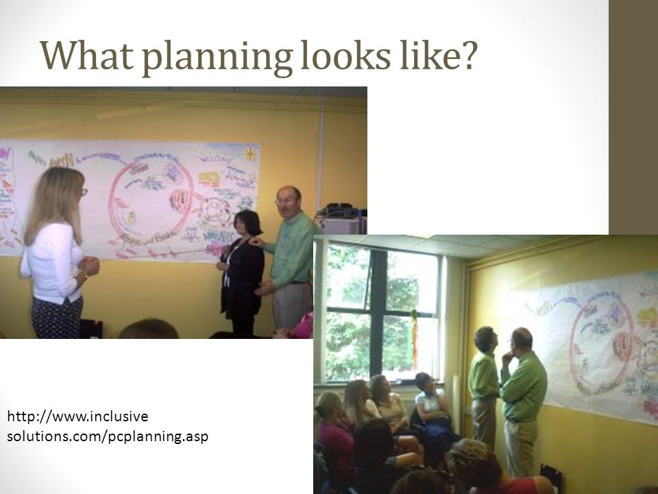What planning looks like