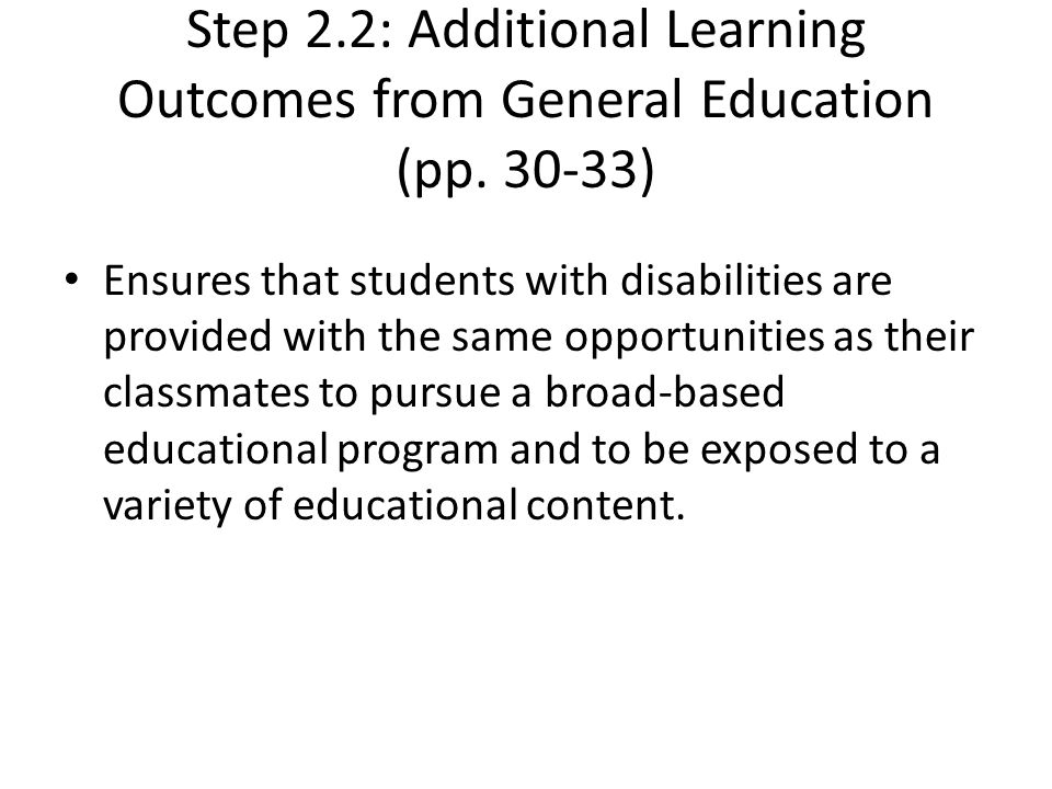 Step 2. 2: Additional Learning Outcomes from General Education (pp
