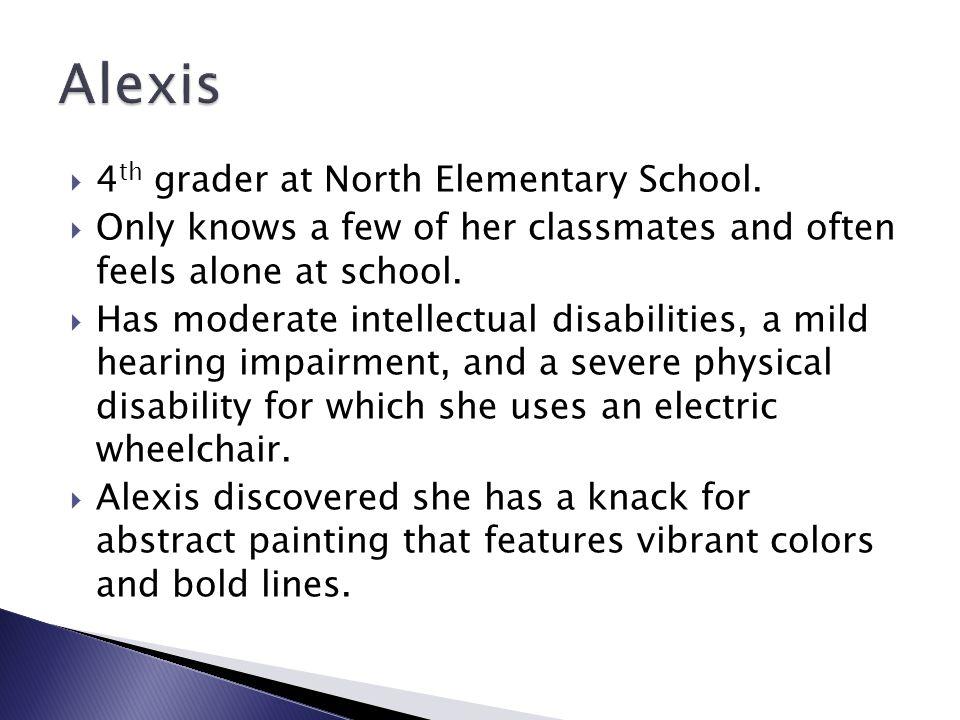 Alexis 4th grader at North Elementary School.