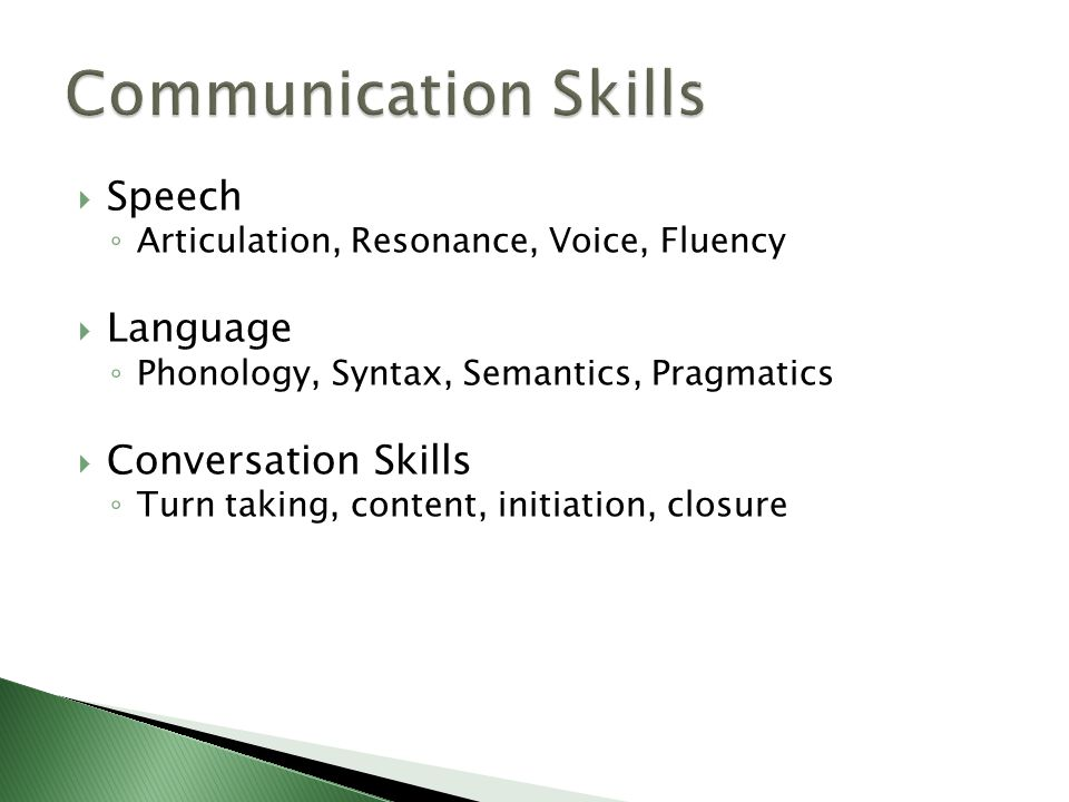 speech language and communication problems in relationship