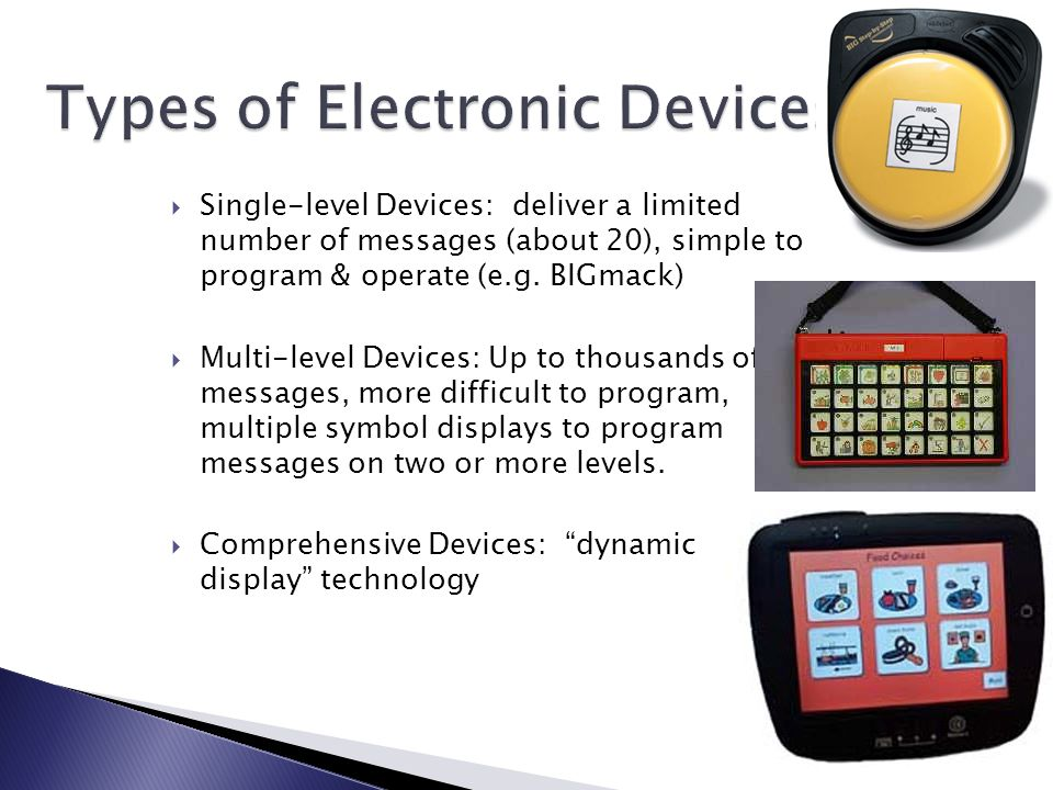 Types of Electronic Devices