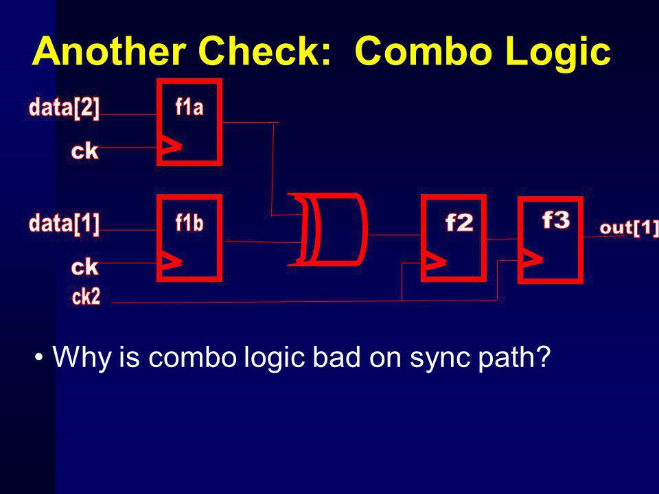 Another Check: Combo Logic