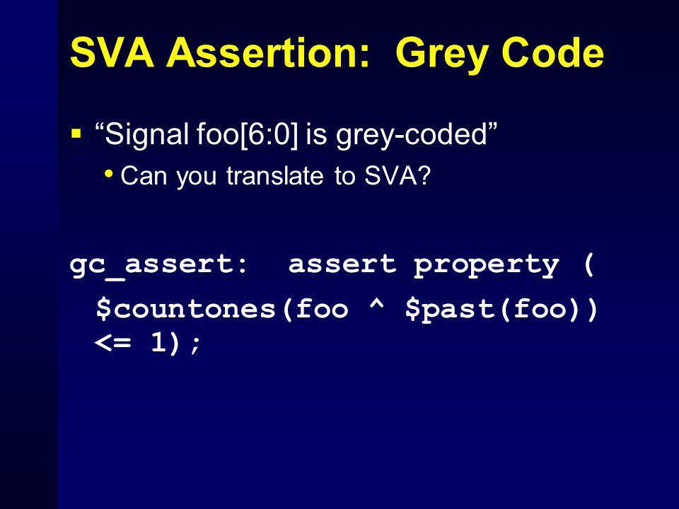 SVA Assertion: Grey Code