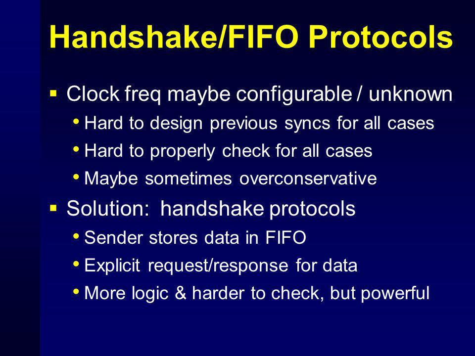 Handshake/FIFO Protocols