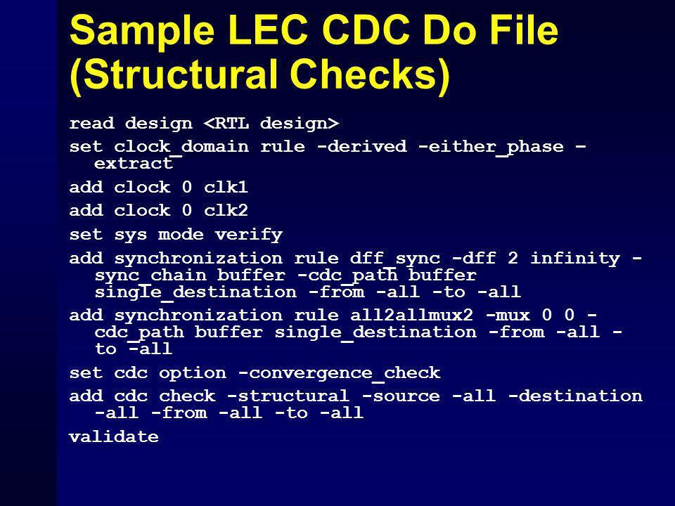 Sample LEC CDC Do File (Structural Checks)